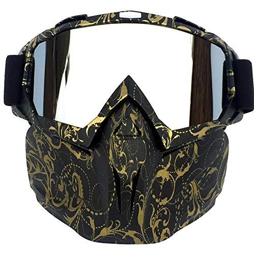 AoYan Stofmaskers Masker en Goggles Set - Half Gezicht Stofdichte Maskers Bike Sport Masker, Verstelbare Vier Seizoenen Universeel voor Field Travel CS/Jagen/Paintball/Shooting