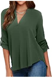 Zantt Womens Solid Color Top Short Sleeve Loose Fit Plus Size T-Shirt Tee Top