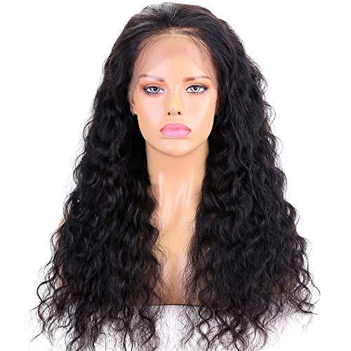Wig Women's Long Big golvend haar Braziliaanse Full Lace menselijk haar pruiken Wet Golvend Beyonce 130density Full Lace Wig Gluess Virgin Human Hair for Black Women (Size : 16in)