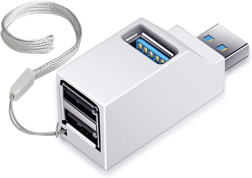 Onvian 3 Port USB Hub High Speed Splitter Plug and Play Bus Powered