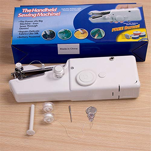 Draagbare Handheld Naaimachine, Draadloze Naaimachine Mini Electric Handy Stitch Kit Voor Beginners, Craft Fabric Kinder Pet Kleding DIY Home Reizen Gebruik
