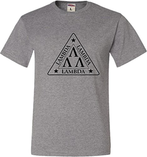 XXXX-Large Oxford Adult Lambda Lambda Lambda Tri Lambda Funny T-Shirt