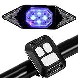 Kinberry Luz trasera para bicicleta con luz intermitente para bicicleta, recargable, cable USB, 3 modos de luz, recargable, luz LED en la cola (negro)