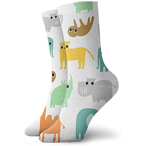 Be-ryl Damen Athletic Ankle Quarter Socken Lustige Kinder Textildruck Männer Komfort Kissen Feuchtigkeit Docht Socke 30cm