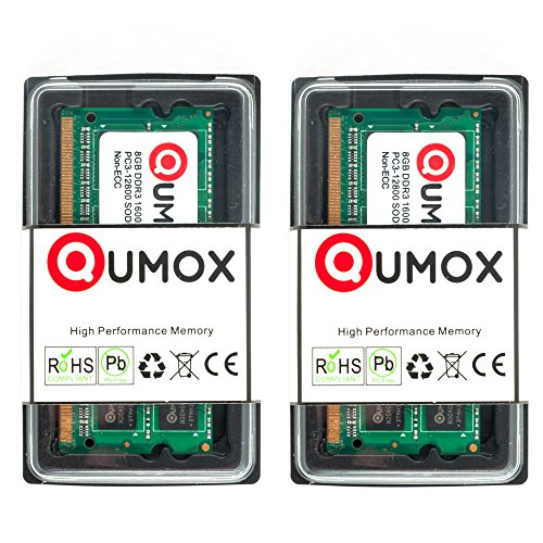 QUMOX Memoria SODIMM 16GB (2 x 8GB) DDR3 1600MHz PC3-12800 (