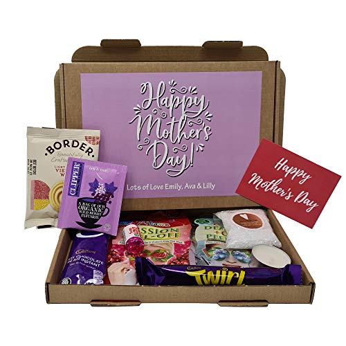 Personalised Mother's Day Pamper Treat Box Letterbox Gift Box Hug in a Box - You got this, Anxiety Worry Take a break - Lockdown - for a special person (Lilac)