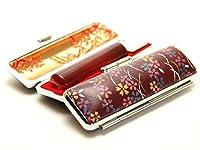 「琥珀樹脂印鑑16.5mm×60mm赤ローケツケース(D-12)付き」 縦彫り 吉相体