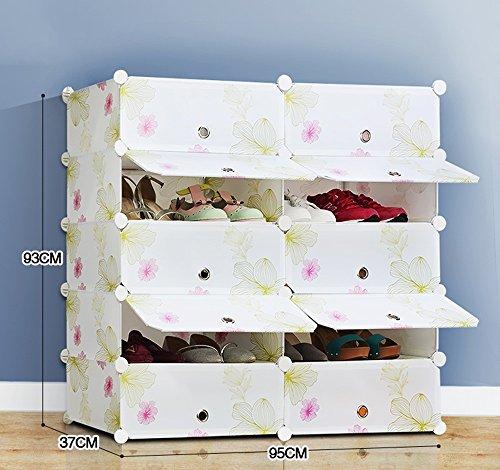 Chaussure Style Pastorale Ménage en résine Boîte en Plastique, étagères pour magasins Multiples Armoire à antipoussière, Combinaison de Rangement Multifonctions de GRA