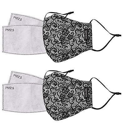 kensie 2 Piece Reusable Face Mask Set Plus 4 Replaceable Air Filters