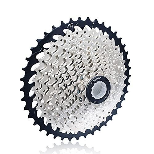 XUDAN Rueda Libre para Bicicleta De MontañA,Ligero Y Resistente Al Desgaste 8/9/10 Velocidad 11-25t / 28t / 32t / 36t / 40t / 42t Accesorios De Bicicleta Volante De Casete