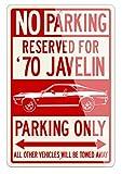 AMC Javelin Coupe de 1970Reservado Parking Only Sign de aluminio, Rojo