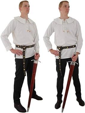 CAS Hanwei GDFB Round Collar Cotton Shirt (Burgundy, Large)
