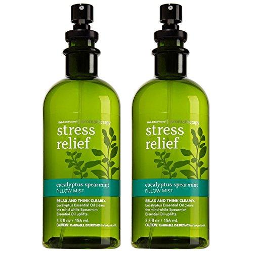 Bath and Body Works Aromatherapy Pillow Mist 2-Set (Stress Relief - Eucalyptus Spearmint)