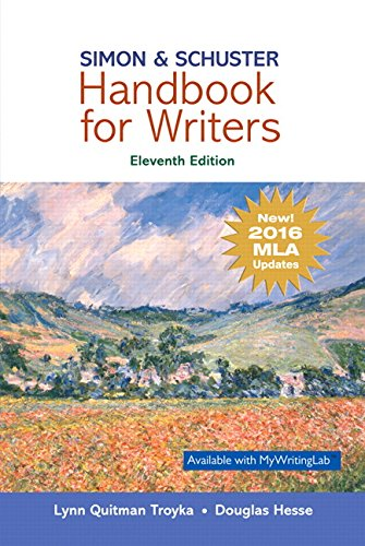 Download Simon & Schuster Handbook for Writers, MLA Update (11th Edition) 013470133X