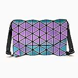 Geométrico rombic cruzado cambio de color sobre bolsa de láser bolsa de color mágico bolso de hombro