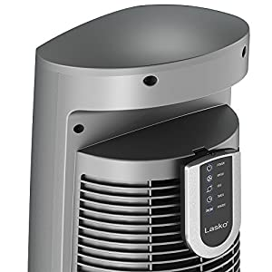 """Lasko Wind Curve Portable Electric 42"""" Oscillating Tower Fan with Fresh Air Ionizer, Timer and Remote Control for Indoor, Bedroom and Home Office Use, Silverwood 2554"""