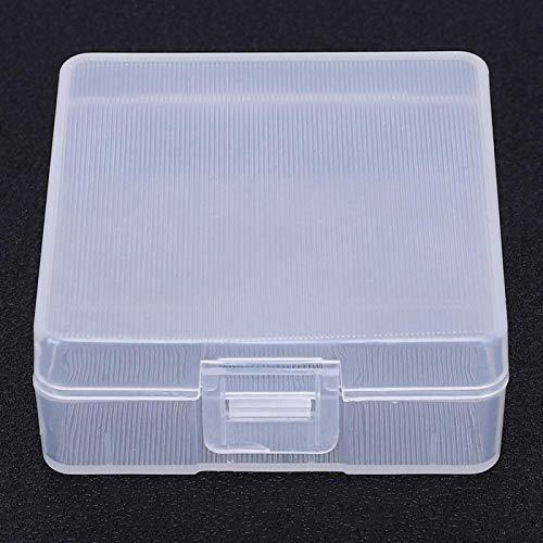 Caixa de armazenamento, organizador de bateria portátil de 2 unidades, prático de alta qualidade para baterias de escritório