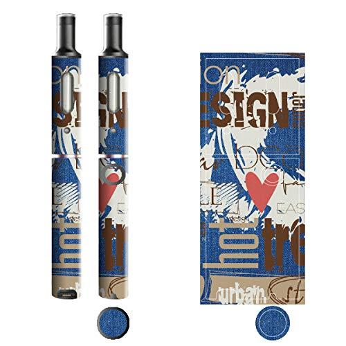 電子たばこ タバコ 煙草 喫煙具 専用スキンシール 対応機種 プルームテックプラスシール Ploom Tech Plus シール Jeans デニム モチーフコレクション 05 ペイントカラー 21-pt08-2135