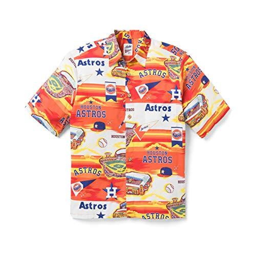 Reyn Spooner Houston Astros Scenic XX-Large Cotton MLB Hawaiian Shirt