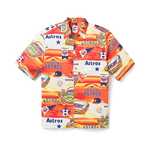 Reyn Spooner Houston Astros Scenic XX-Large Cotton MLB Hawaiian Shirt
