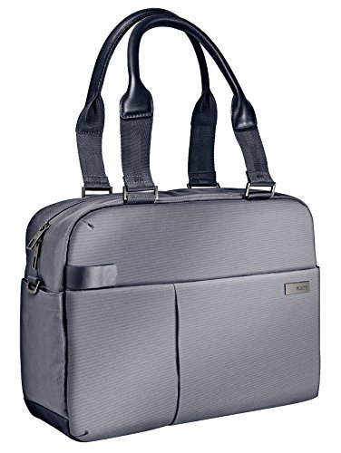 Leitz, Business Laptop-Schultertasche für 13.3 Zoll Laptop oder Ultrabook, Smart Traveller, Complete, Silber, 60180084