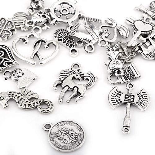 Accesorios de encanto especial y antiguo de alta dureza, hermosos patrones de plata tibetana, para pulseras de estilo, colgante de collar, fabricación de joyas