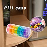 HELLOO HOME Pilulier Semainier,Pilulier 7 Jours 14 Compartiments Multicolores Amovible Étanche,pour Tenir des vitamines, des suppléments et des médicaments