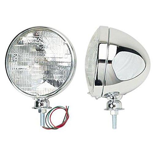 Speedway Motors Chrome Dietz Type Headlights, Standard Bulb