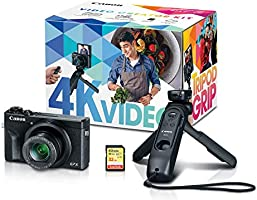 Canon PowerShot G7X Mark III Digital Camera, Video Creator Kit with Accessories: Tripod, Memory Card, and Detachable...