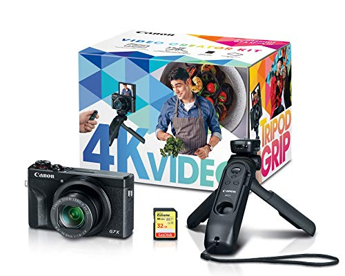 Canon PowerShot G7X Mark III Digital Camera, Video Creator Kit with Accessories: Tripod, Memory Card, and Detachable Bluetooth Remote