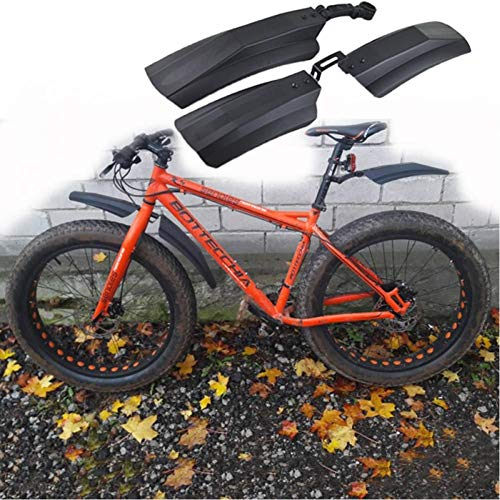 sgfd Bicicleta Plegable Guardabarros Guardabarros para Bicicleta de Nieve Fat Bike Fender Fatbike MTB Bike Ciclismo Guardabarros Piezas
