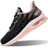 RomenSi Womens Running Shoes Fashion Breathable Tennis Air Cushion Sneakers(Peachblack US 8 B(M)
