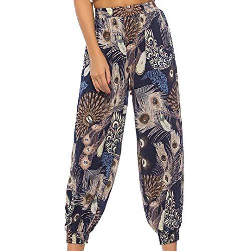 Womens dames afdrukken bloemenbroek, HOMEBABY lange broek Baggy legging Harem Jogger Yoga