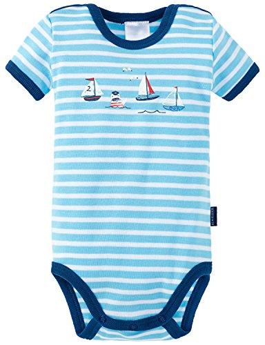 Schiesser Maritim Baby Body 1/2, Bébé garçon, Bleu (Hellblau 805), 56 cm