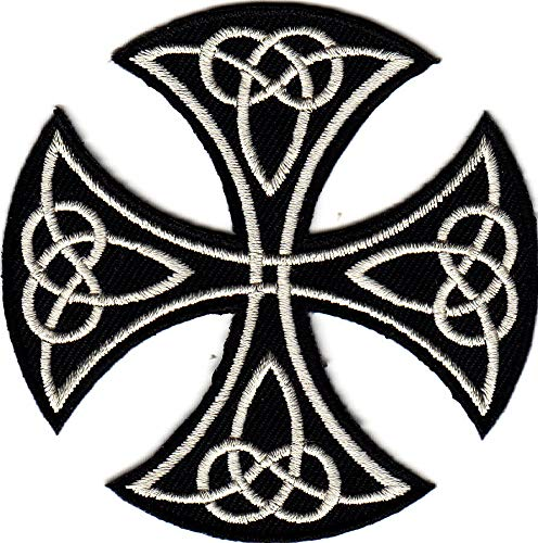CELTIC CUT-OUT CROSS IRON ON PATCH/Bikers, Retro, Goth, Boho, Punk, Symbols