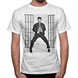 Camiseta de hombre Elvis Presley Ballo Dance Cantante – Blanco blanco XXL