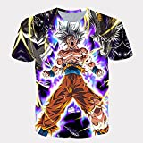 Round Neck Tops Dragon Ball Z Short Sleeve Mens Womens 3D Printed Goku t-Shirt Summer Unisex Japanese Anime Funny Shirt Teenager sportswear-1102_4XL