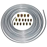 A-Team Performance 3/16'' Double Walled Galvanized Steel Tube Roll Brake Line Kit With 16 ...