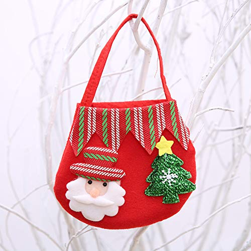Blanchel Portable Christmas Candy Bag Handtasche Niedliche Geschenk-Vliestasche