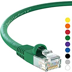 2 FT ETHERNET CABLE GREEN CAT5E (10 PACK): The InstallerParts CAT5E cable connects common devices on a Local Area Network (LAN), such as laptops, PCs and Mac, servers, printers, modems, routers, hubs, switch boxes, network media players, NAS, VoIP ph...