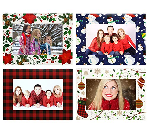 Iconikal Christmas Photo Frame Greeting Cards with Envelopes, 40-Count
