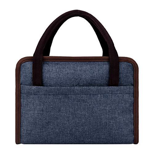 Philorn Borsetta Porta Pranzo Termica Pranzo Borse Borsa Alimenti Lunchbox per Uomo Donna Adulto Borsa per Alimenti Picnic e Ufficio Denim Blue