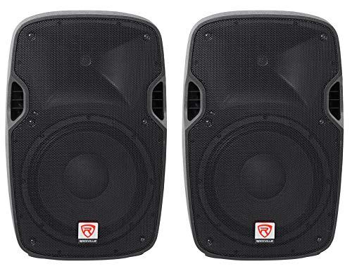 (2) Rockville SPGN128 12' Passive 2400 Watt DJ PA Speakers ABS Cabinets 8-Ohm
