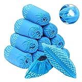 Protec44 - Lot de 50 Surchaussures jetables résistantes antidérapantes PP polypropylène en tissu non tissé bleu, Couvre-Chaussures - Livraison Rapide