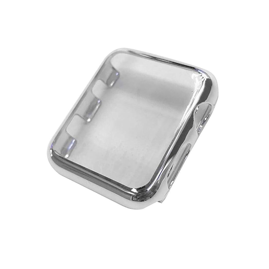 遺体安置所挽くピクニックケース 耐衝撃 フルカバー 装着簡単 38mm Apple Watch Series 2/3対応 銀