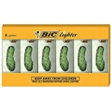Pack of 6 BIC Lighters featuring the pickle design Child-resistant, Safe and reliable, 100% Quality Inspected Up to 2 times the lights vs. the next full size leading brand Every BIC lighter undergoes more than 50 separate, automatic quality checks du...