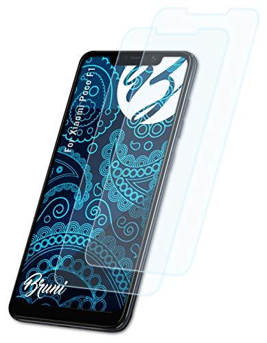 Bruni Schutzfolie kompatibel mit Xiaomi Poco F1 Folie, glasklare Bildschirmschutzfolie (2X)
