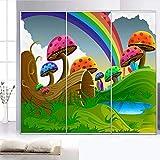 LSDAMW Papel Pintado Mural Personalizado Foto Dibujos Animados Setas Arco Iris Hierba 250X175Cm 3D Imagen Decoración De La Habitación Pintura Murales De Pared Mural Autoadhesivo Decoración Del Dormito