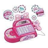 Chicas registrador de efectivo con pantalla LED, escáner, calculadora supermercado fingir jugar hasta juguete niños/niños mejor juguete