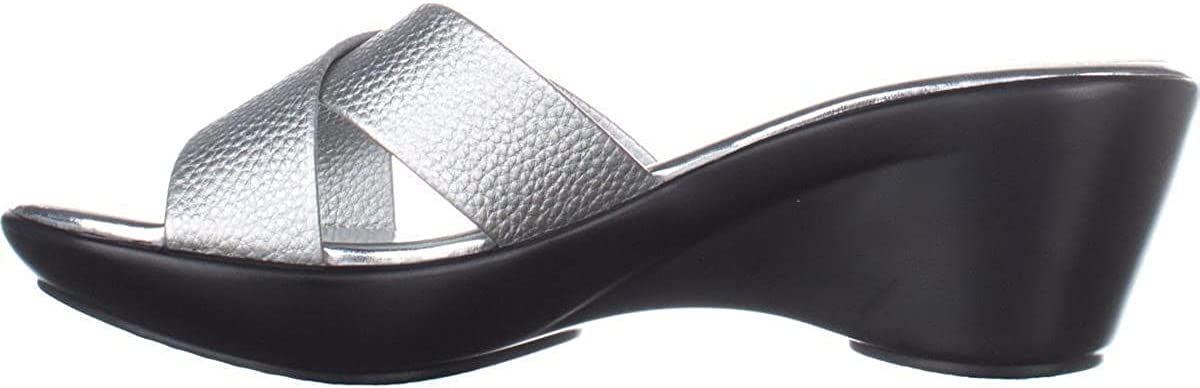 Callisto Womens dimple Open Toe Casual Slide Sandals